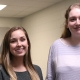 Madeline Fiorante ( left) is serving as the public relations Yarbrough-Grady Fellow, while Allison Miller is the Spring 2019 graphics fellow.