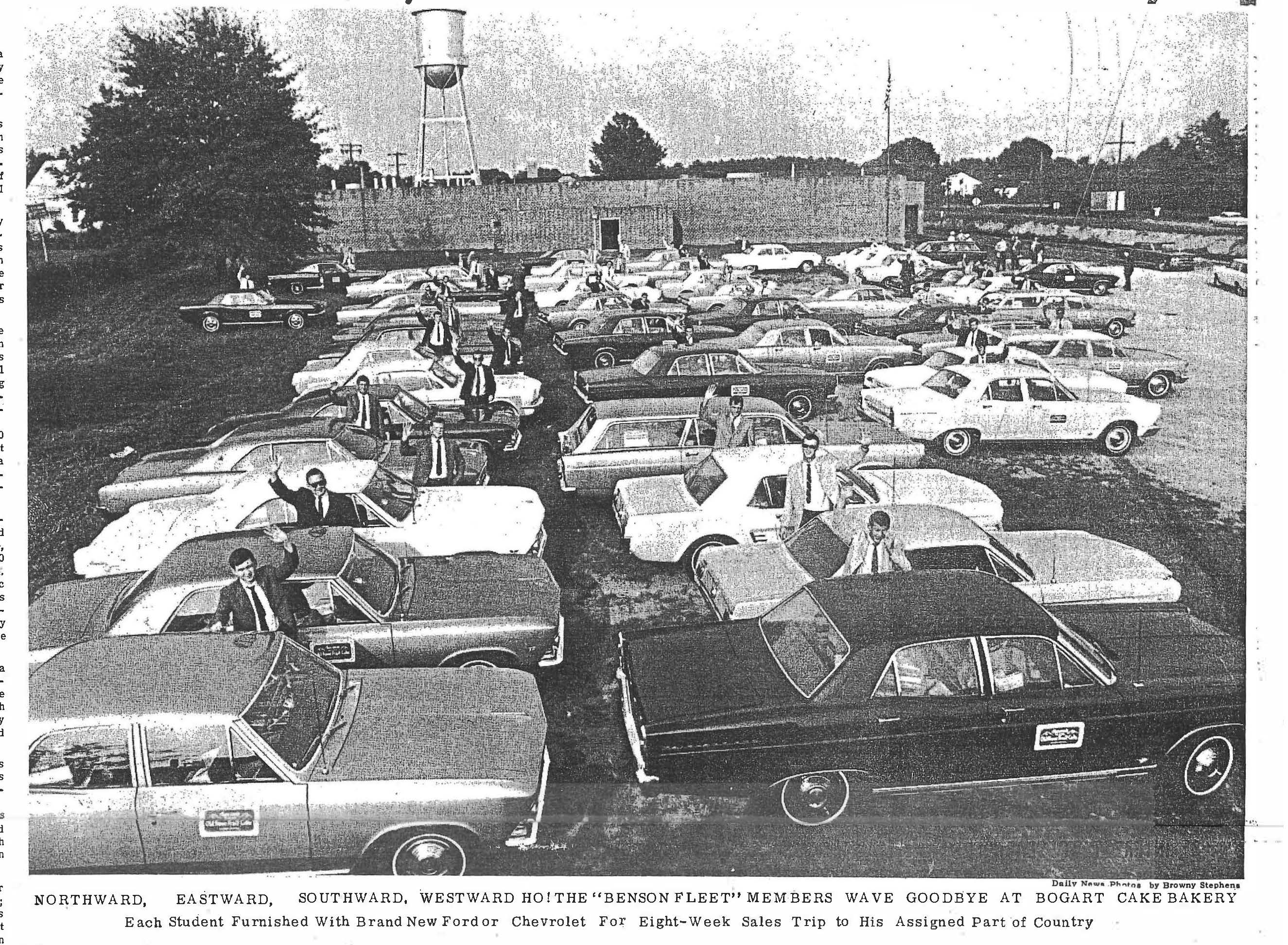 Athens Daily News Photo of Benson Fleet in 1966