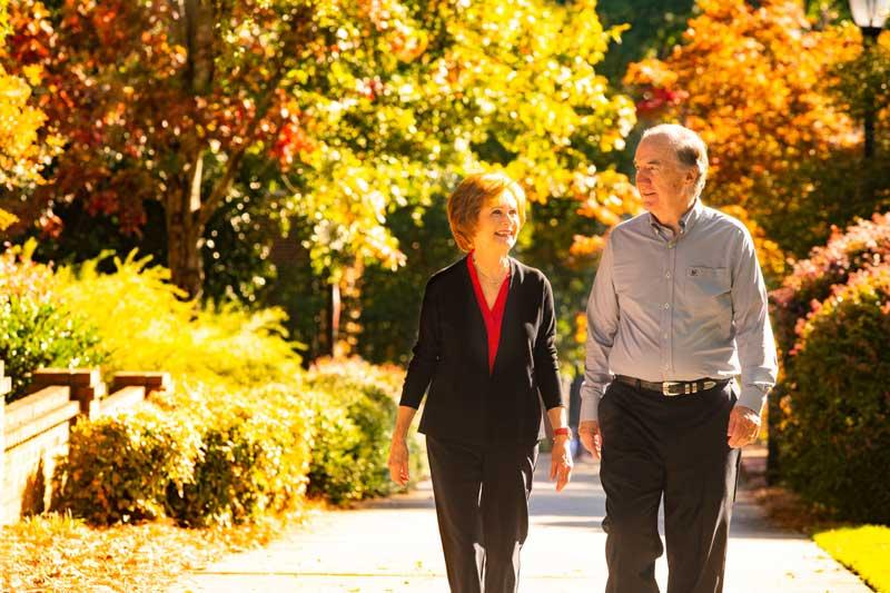 Nancy and Glenn Walking
