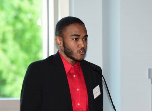 Cyrus Townsend speaks to Coca-Cola First Generation Scholars