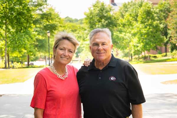 Nancy Juneau with husband