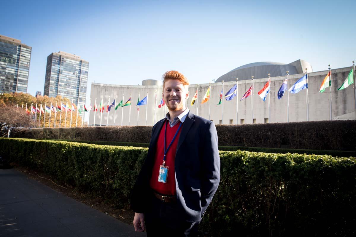 Samuel Tingle at UN 2017