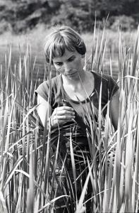 Becky Sharitz in the field in 1978.