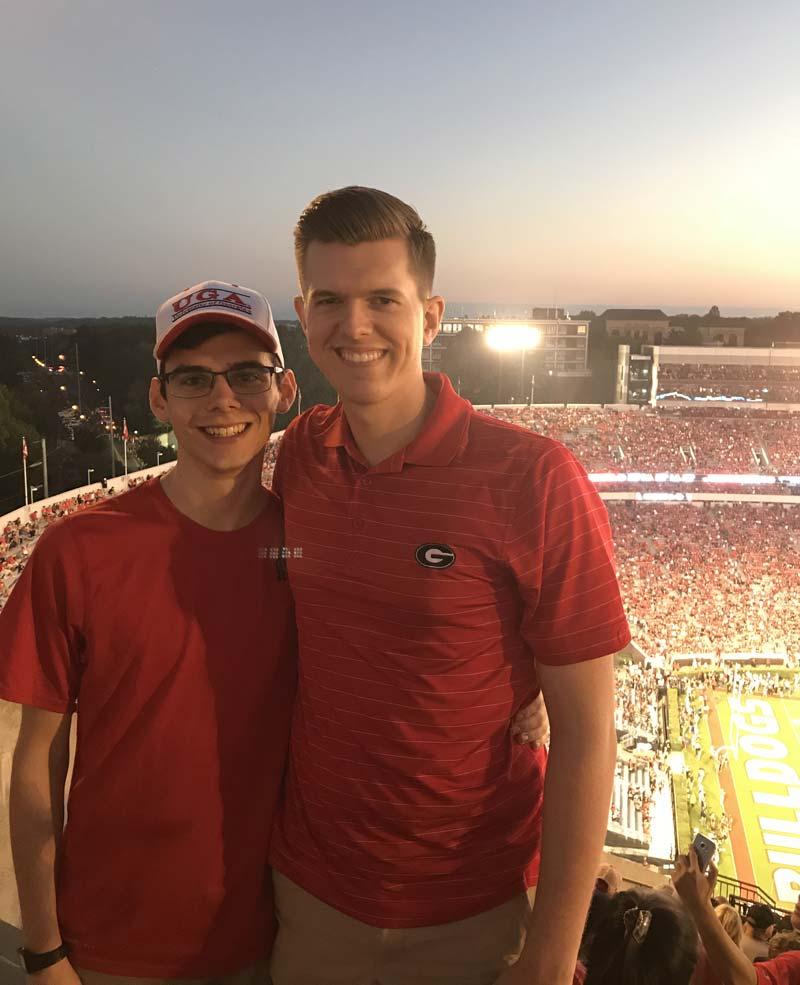 Ben Jacobs at Georgia football game